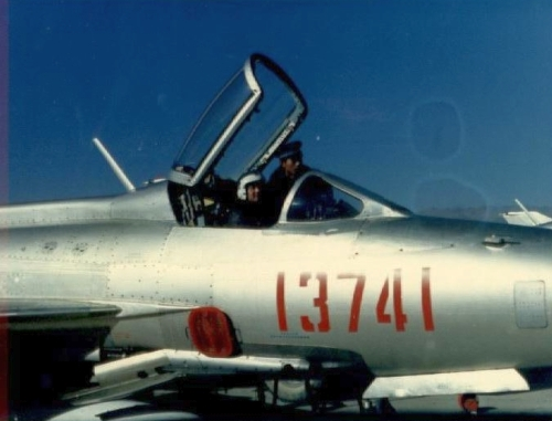 Chinese J-7 MiG-21 Fishbed in Tibet in 1988
