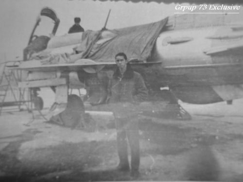 Young Egyptian pilot in front of his MiG-21PF Fishbed-D fighters in the late sixties Photo: Group 73 Exclusive