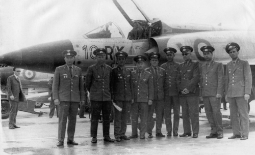 French Mirage IIIC at Domodedovo airport Soviet-Union in 1971
