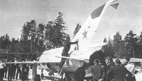 USSR MiG-21bis Fishbed-L at Rissala airport Finland in 1974
