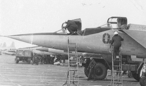 Soviet 193rd Independent Reconnaissance Air Regiment's MiG-25 at Ukkurey