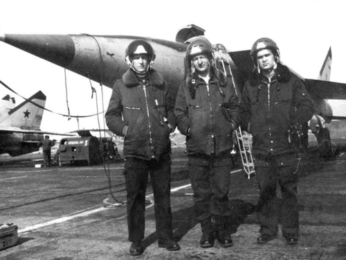 Soviet 193rd Independent Reconnaissance Air Regiment's MiG-25 at Ukurey
