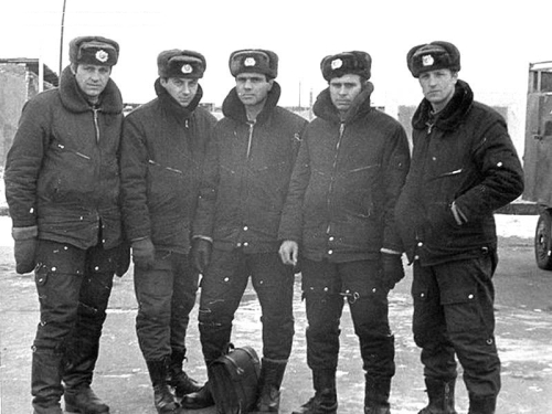 Soviet 193rd Independent Reconnaissance Air Regiment's crews at Ukkurey