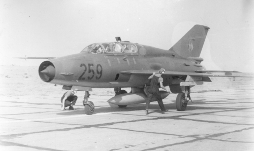 JG-1 East German MiG-21UM Mongol-B at Astrakhan