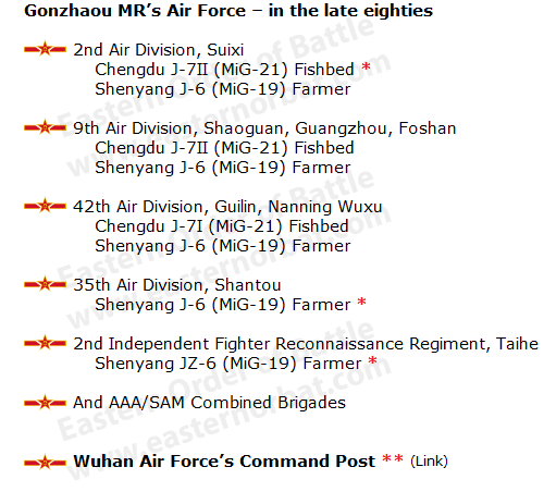 PLAAF Guangzhou Military Region Air Force