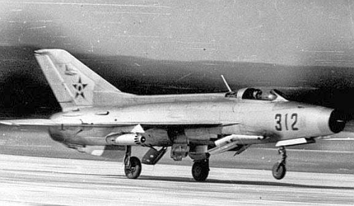 Hungarian Air Defence force's MiG-21F-13 Fishbed-C interceptor