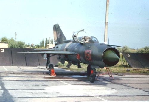 Soviet MiG-21PFM Fishbed-F at Kupyansk airport in 1983