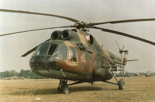 Hungarian Mi-8T Hip-C helicopter.