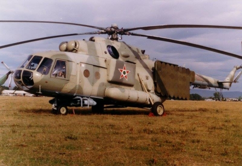 Hungarian Air Force 87th Combat Helicopter Brigade Mi-17PP Hip-H electronic jamming helicopter. Photo: Simon László