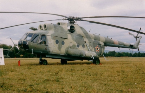 Hungarian Air Force 87th Combat Helicopter Brigade Mi-9 Hip-G flying command post helicopter. Photo: Simon László