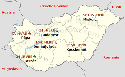 Hungarian Air Defense map in 1968