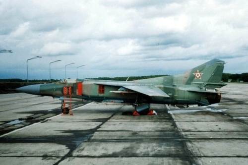 Hungarian MiG-23MF Flogger-B Live-fire exercise in Poland. Photo: Szücs László