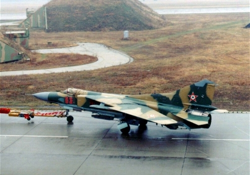 Hungarian MiG-23MF Flogger-B Camouflage at Pápa air base. Photo: Szücs László