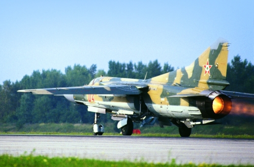 Hungarian MiG-23MF Flogger-B Camouflage at Pápa air base.