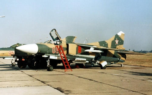 Hungarian MiG-23MF Flogger-B Camouflage at Kecskemét air base in 1990. Photo: Szücs László