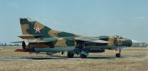 Hungarian MiG-23MF Flogger-B Camouflage at Kecskemet air base in 1990