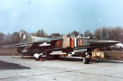 Hungarian MiG-23UB Flogger-C in camouflage
