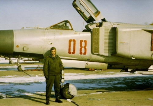 Hungarian MiG-23MF Flogger-B in light-gray color scheme EARLY YEARS