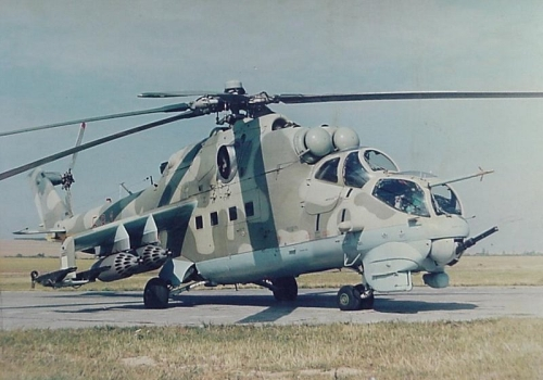 Hungarian Air Force 87th Combat Helicopter Brigade late Mi-24D Hind-D combat helicopter in Szentkirályszabadja. Photo: Szenkovits Lajos