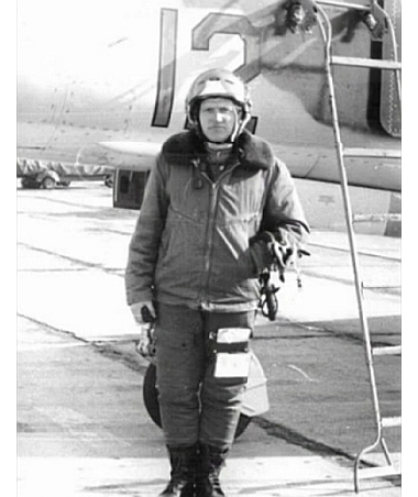 USSR pilot and MiG-23MS Flogger-E at Lugovaya