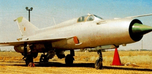 M-21 (MiG-21PFM) Fishbed target drone aircraft