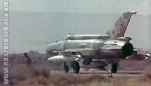 Soviet MiG-21R Fishbed-H at Khanabad - Karshi airport in 1983