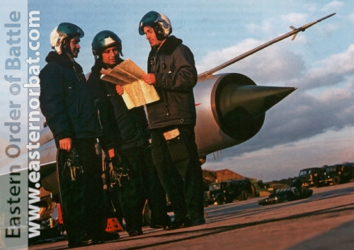 Soviet Tacfical Air Force pilots front of their  MiG-21SM Fishbed-J