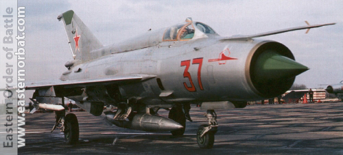 Soviet Tactical Air Force's MiG-21SM Fishbed-J in silver