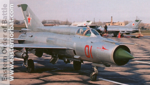 USSR Tactical Air Force's MiG-21SM Fishbed-J in silver