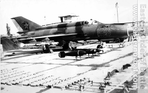Soviet MiG-21SM Fishbed-J with R-3R and R-60 air to air missiles