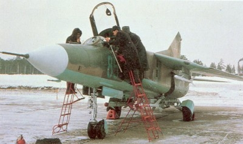 USSR MiG-23MS Flogger-E export fighter at Kubinka