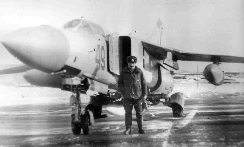USSR MiG-23M Flogger-B fighter at the Kilpajarv airport