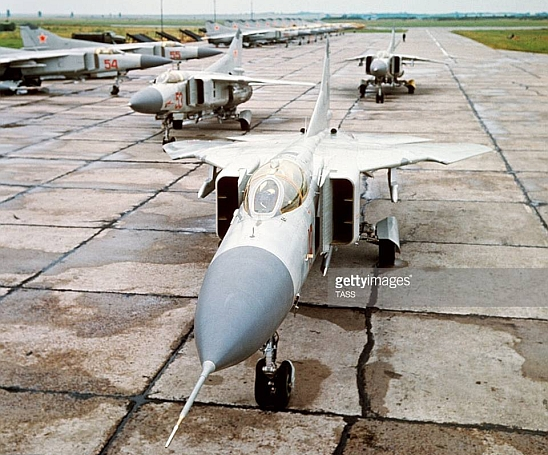 The first MiG-23M Flogger-B tactical fighter arrived to the 92nd Fighter Air Regiment at the Munkachevo AB in end of the 1974. Photo: gettyimages TASS