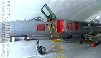 North Korea Air Force 60th Air Regiment Pukchang AB MiG-23ML Flogger-G in hardened aircraft shelter