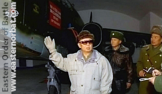 North Korea Air Force 55th Air Regiment Sunchon AB Su-25K Frogfoot-A in hardened aircraft shelter