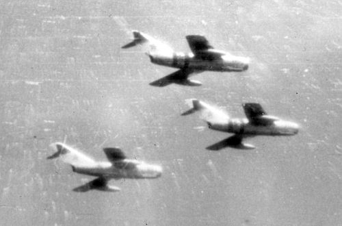 Four Hungarian tactical air squadron had 44 operational MiG-15bis 'Fagot-B' aircraft on on August 20, 1968 at the Szolnok and Kecskemét airport.