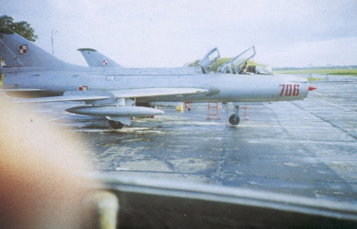 Polish Tactical Air Force's Su-7U Mojuk in the eighties