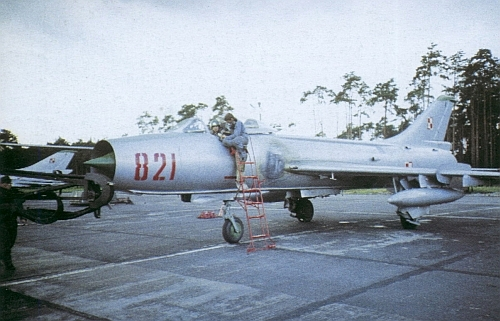 Polish Tactical Air Force's Su-7 BKL Fitters-A in the eighties