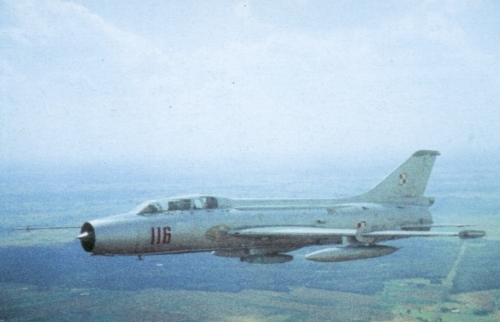 Polish Tactical Air Force's Su-7 U Mojuk in the eighties