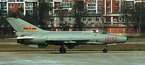 Chinese Chengdu J-7E (MiG-21) Fishbed at Dalian