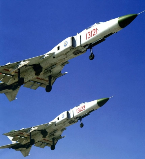 Shenyang Military Region Air Force's first Fighter Division Shenyang J-8B Finback-B, Anshan