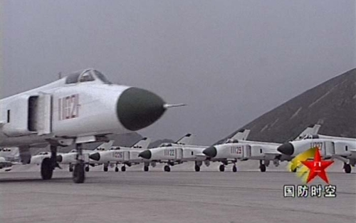 Shenyang Military Region Air Force's first Fighter Division Shenyang J-8B Finback-B
