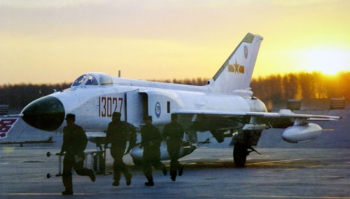 Chinese 1st Fighter Division's Shenyang J-8B Finback-B, Anshan
