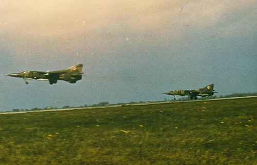 179th Fighter Bomber Air regiment MiG-23M Flogger-B take-off