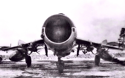 USSR 431st regiment MiG-19PM Farmer-E with RS-2U AA-1 Akali missile at Afrikanda airport