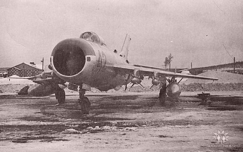SSR 431st regiment MiG-19PM Farmer-E with RS-2U AA-1 Akali missile at Afrikanda airport in 1967