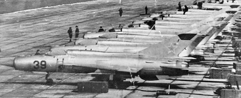 Soviet MiG-21PFM and PFS tactical fighter aircraft of the 92nd Fighter Air Regiment at the Mukachevo airport in 1970