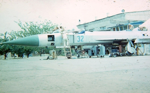 Soviet Su-15 Flagon-D Kyurdamir airport in 1980