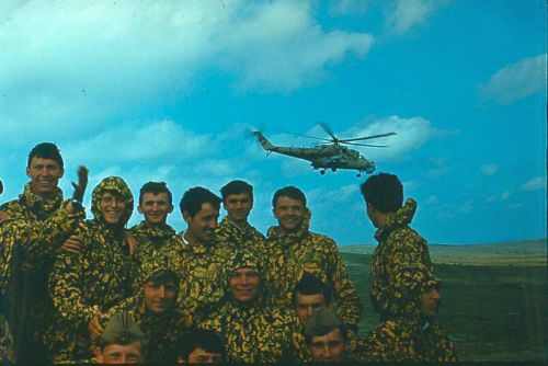 Soviet FAC - forward air control training in the eighties with Mi-24 Hind