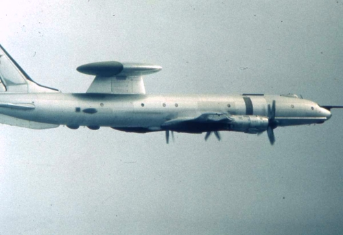 Soviet Tupolev Tu-126 Moss airborne early warning and control aircraft